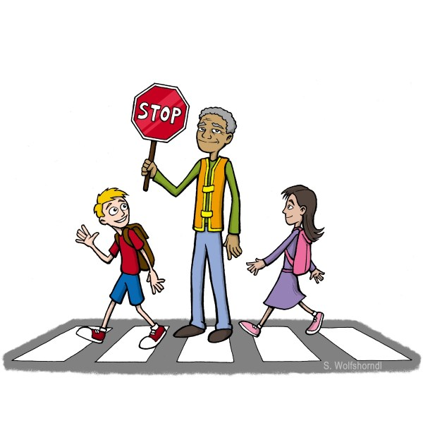 School Safety Crossing Guard Clip Art