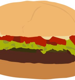 clip arts related to plain burger clipart [ 1878 x 1442 Pixel ]