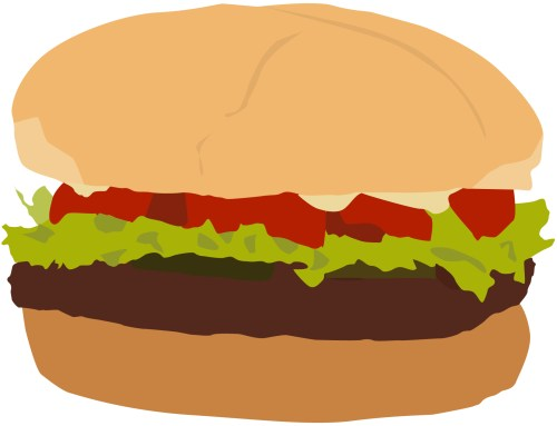 small resolution of clip arts related to plain burger clipart