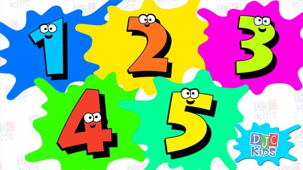 Clip Art Numbers 1 5