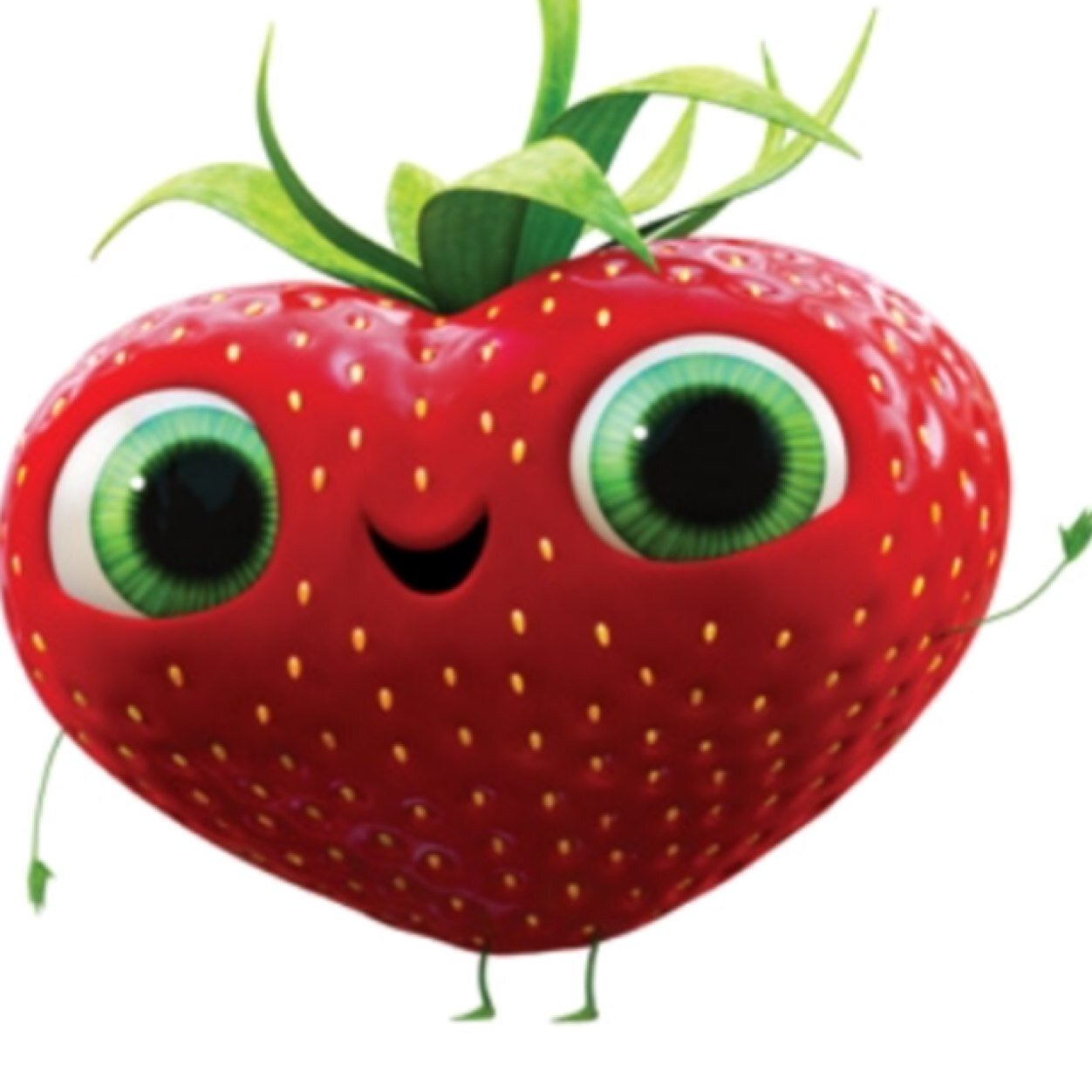 hight resolution of happy strawberry