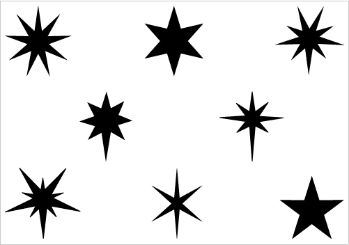 free realistic stars cliparts
