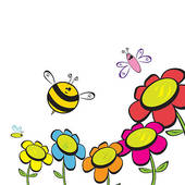 free flower bee cliparts