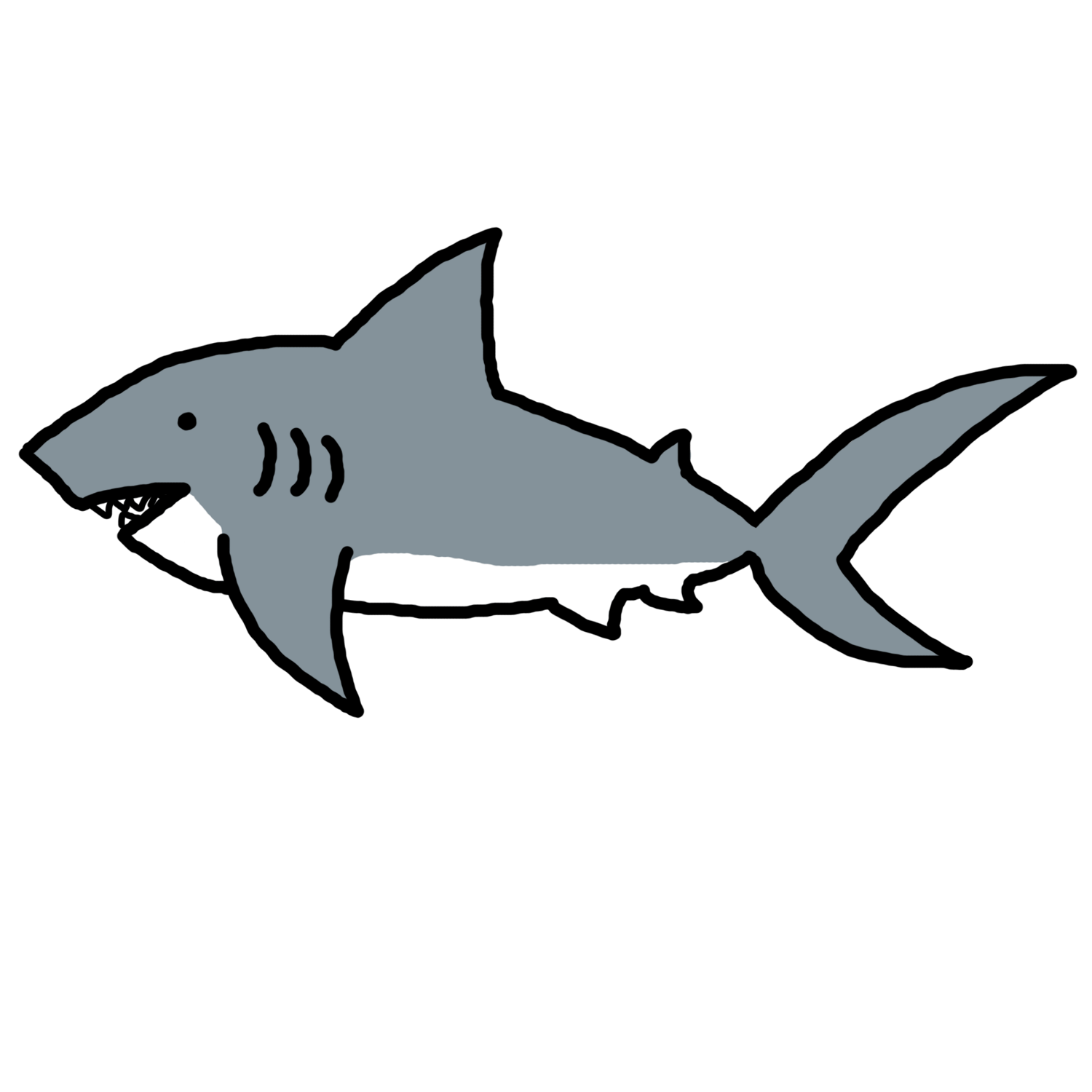 hight resolution of shark clip art black and white