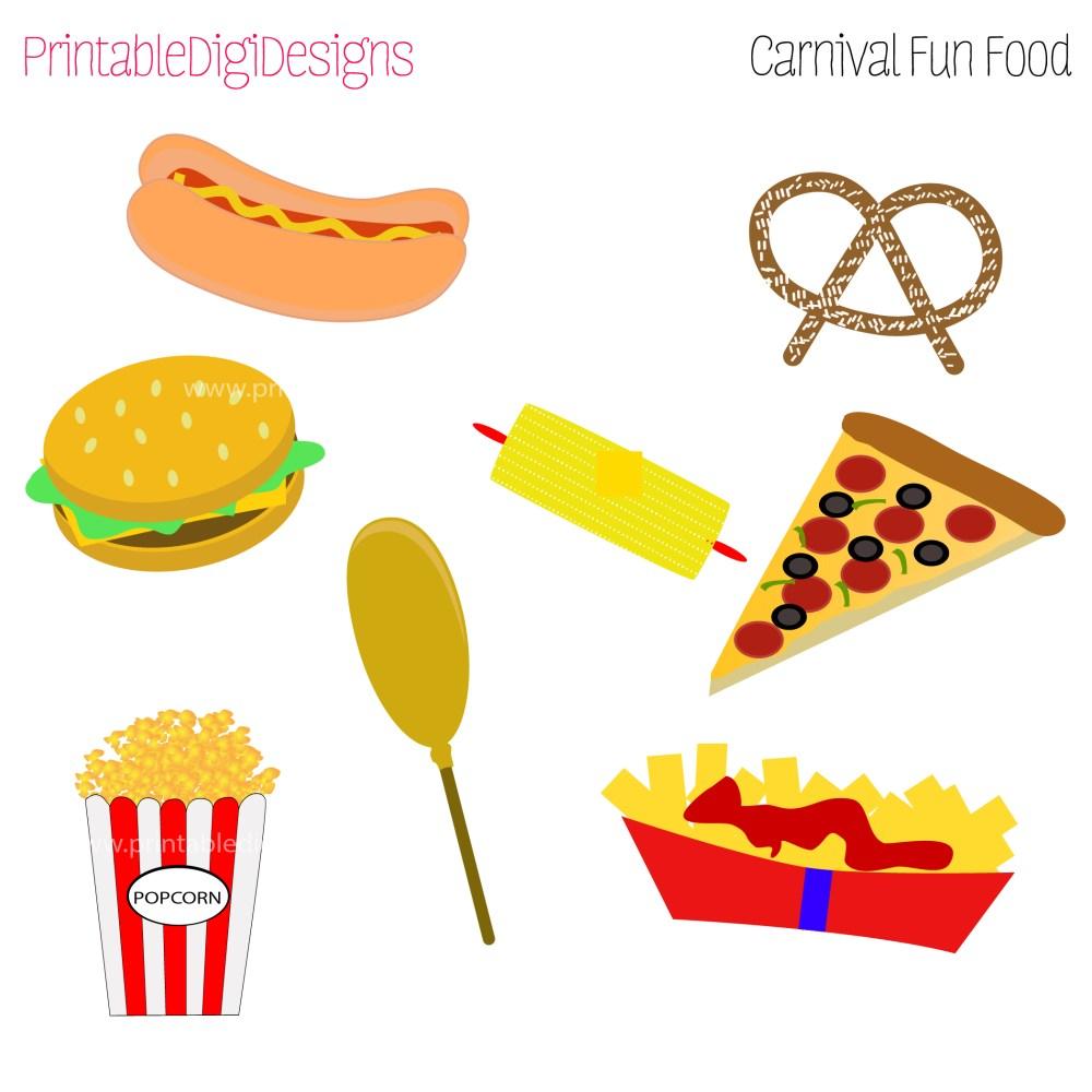 medium resolution of carnival food clipart