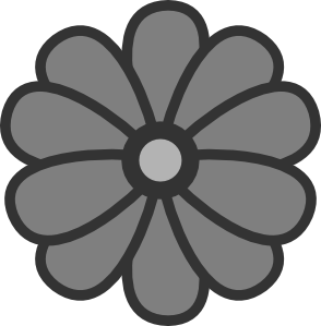 free gray flowers cliparts