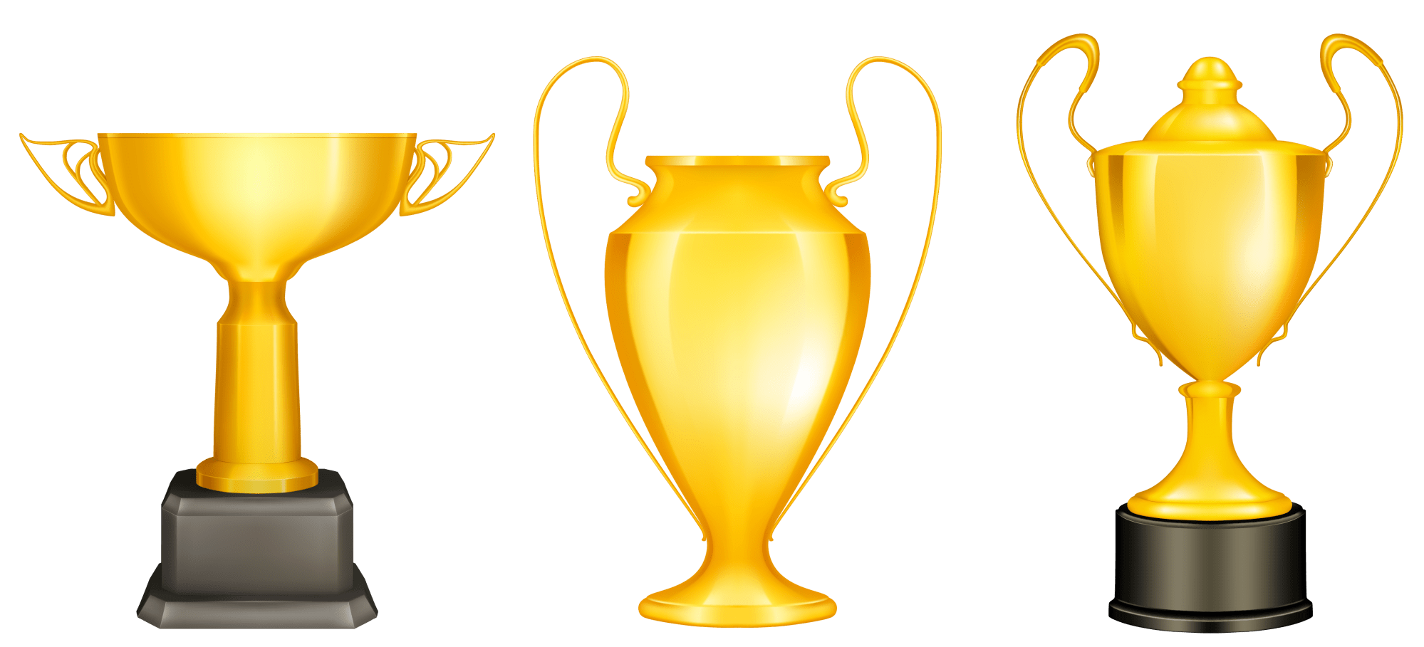 hight resolution of winning trophy clipart clear