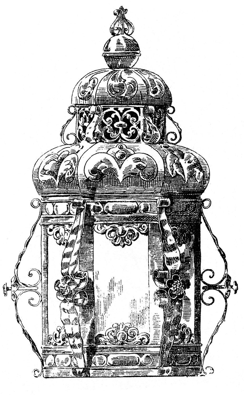 Victorian Candle Holder Drawing Clip Art Library