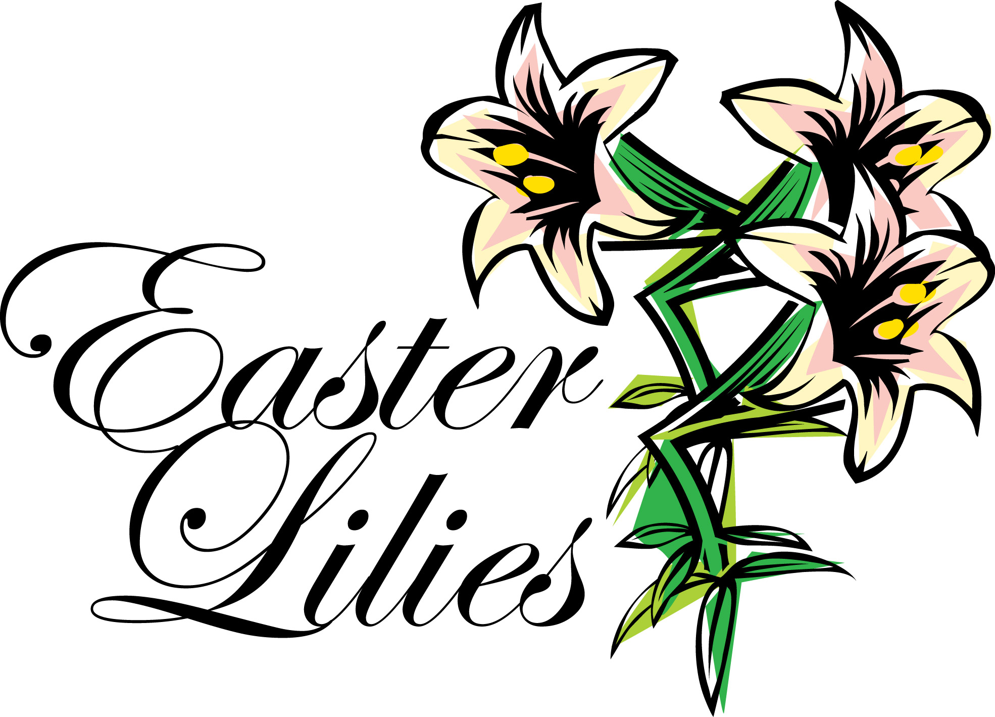 Image result for easter lillies clip art