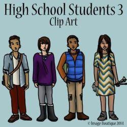 teachers high school students as team cartoon Clip Art Library