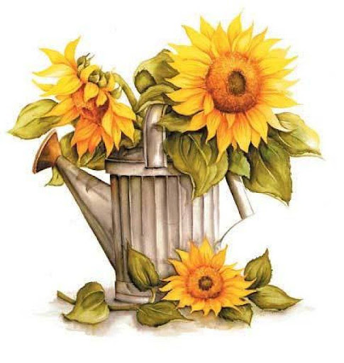 free vintage sunflower cliparts