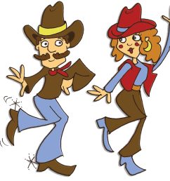 country line dancing clipart [ 1600 x 1236 Pixel ]