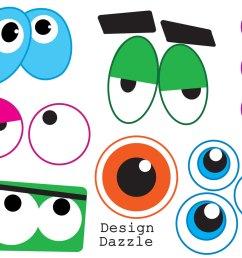 funny monster eye face clipart [ 1280 x 983 Pixel ]
