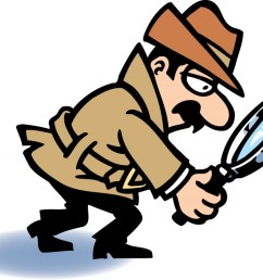 detective clipart magnifying glass [ 1024 x 833 Pixel ]