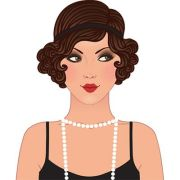 free vintage flapper cliparts