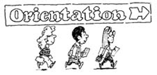 Student orientation clipart