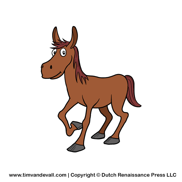 Cartoon Horse Clip Art Free