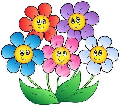 free cartoon flower cliparts