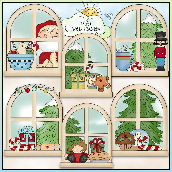 free autumn window cliparts