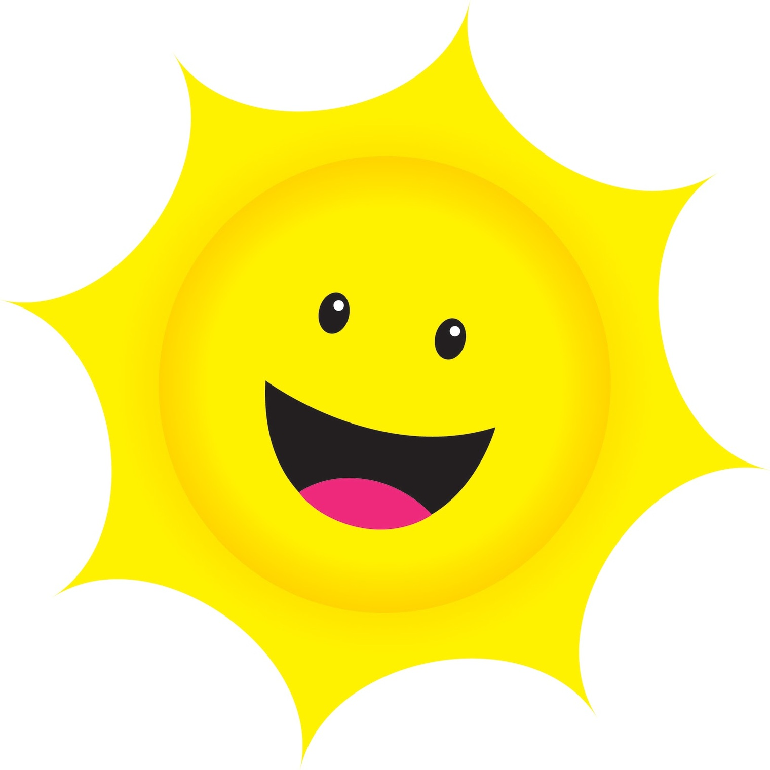 hight resolution of smiling sun clipart the