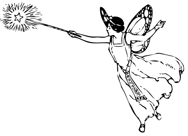 Free Fairy Outline Cliparts, Download Free Clip Art, Free