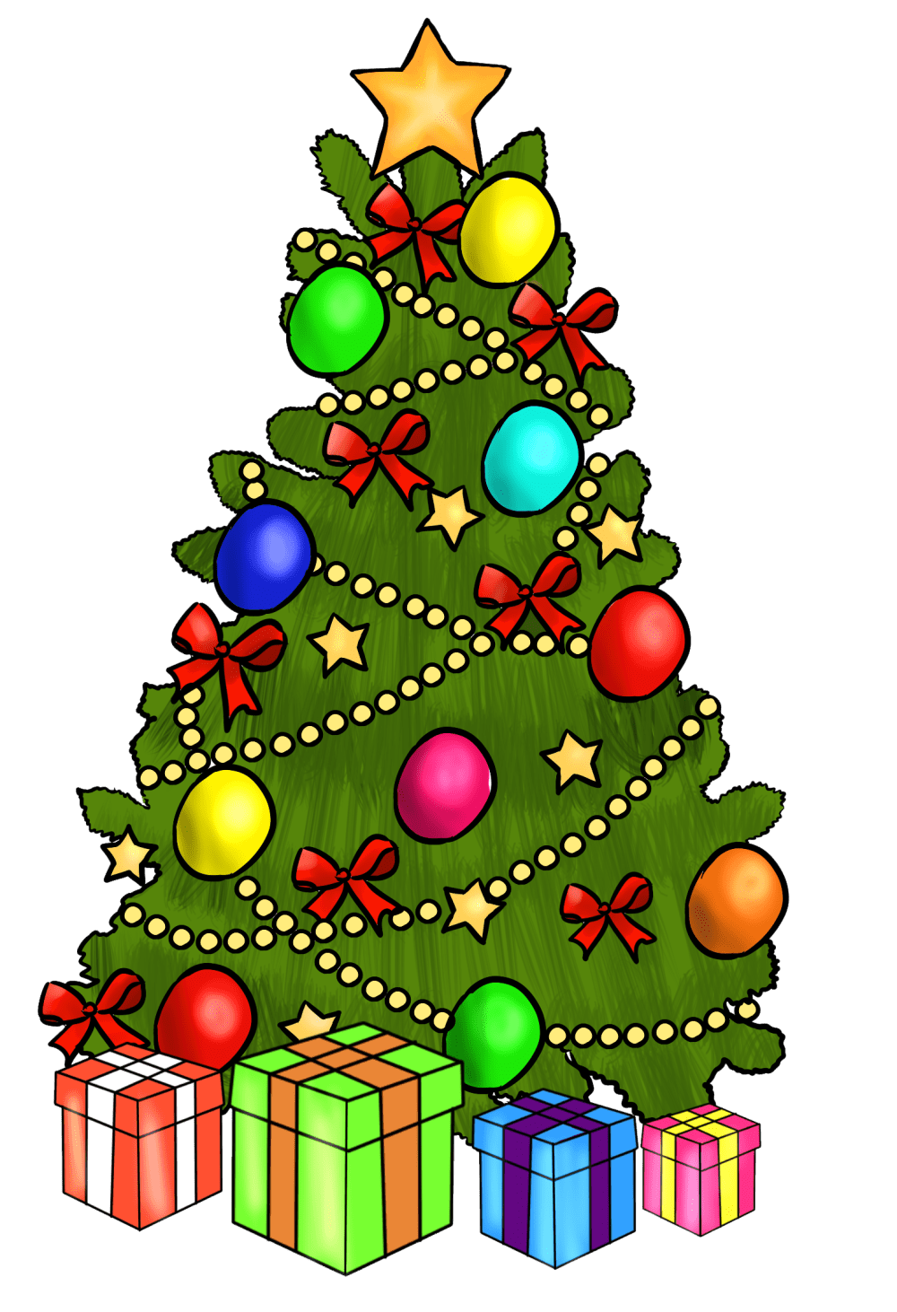 medium resolution of christmas tree clipart free