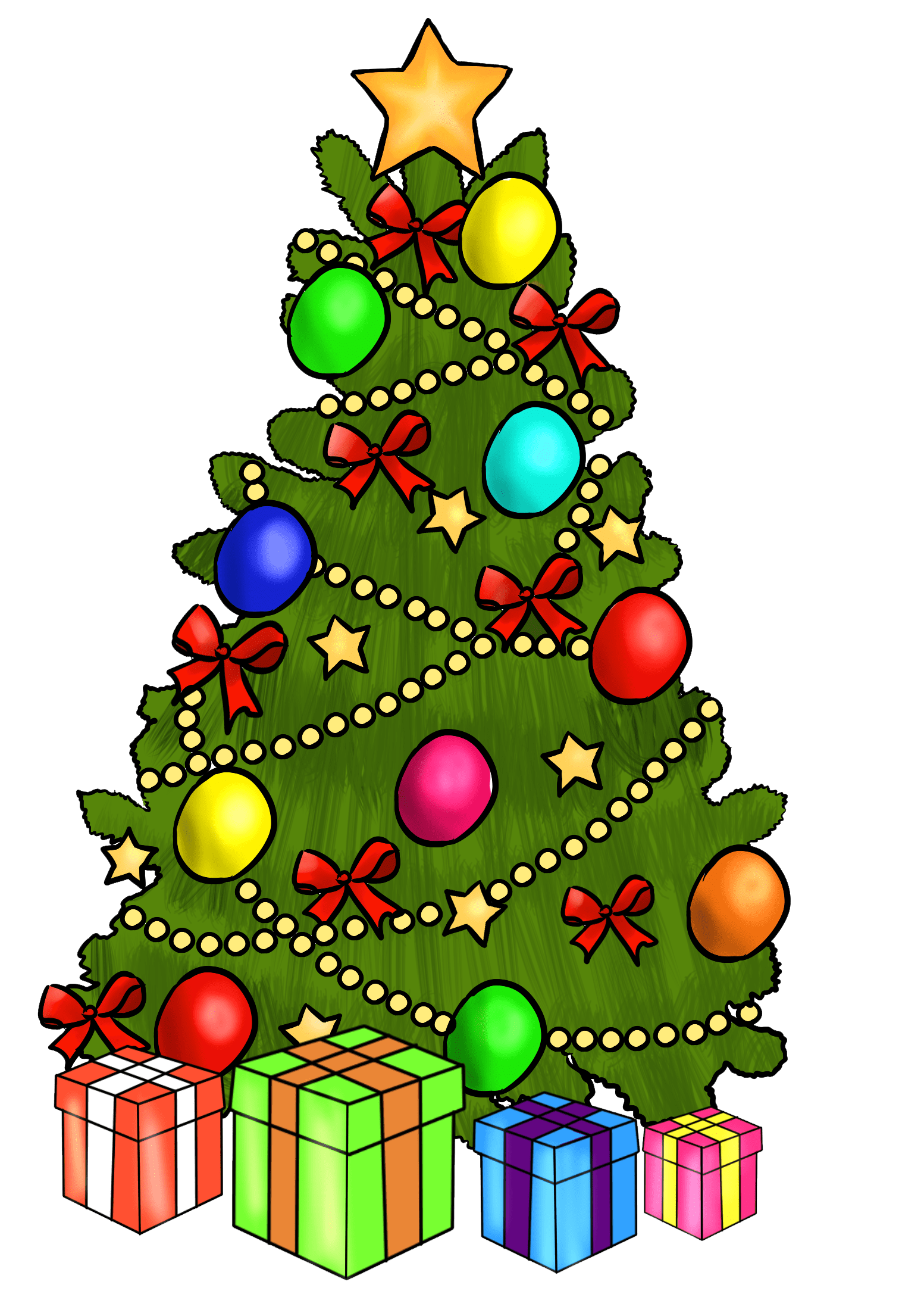 hight resolution of christmas tree clipart free