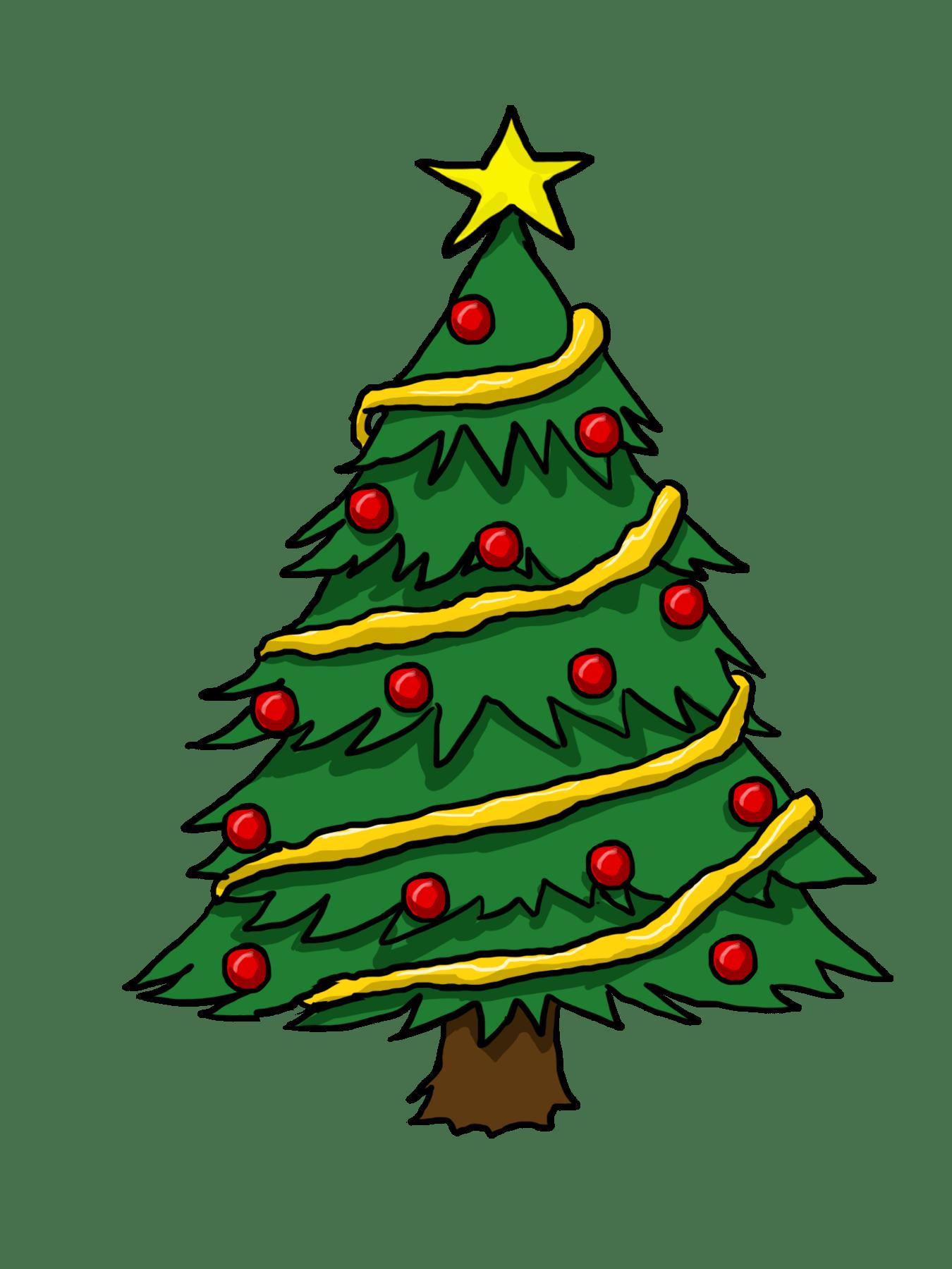 hight resolution of free christmas tree clip art borders