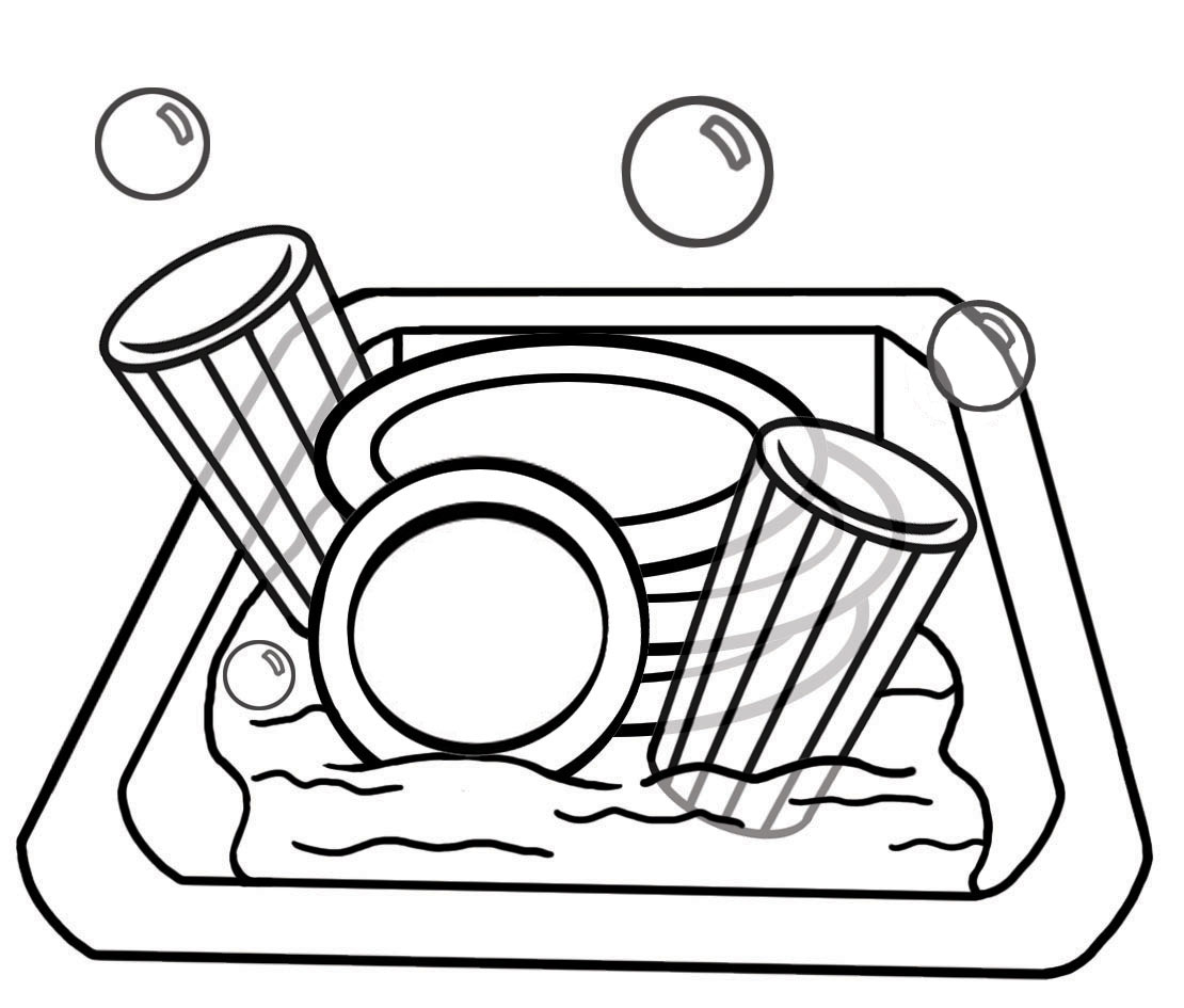 Clean Dishes Clipart