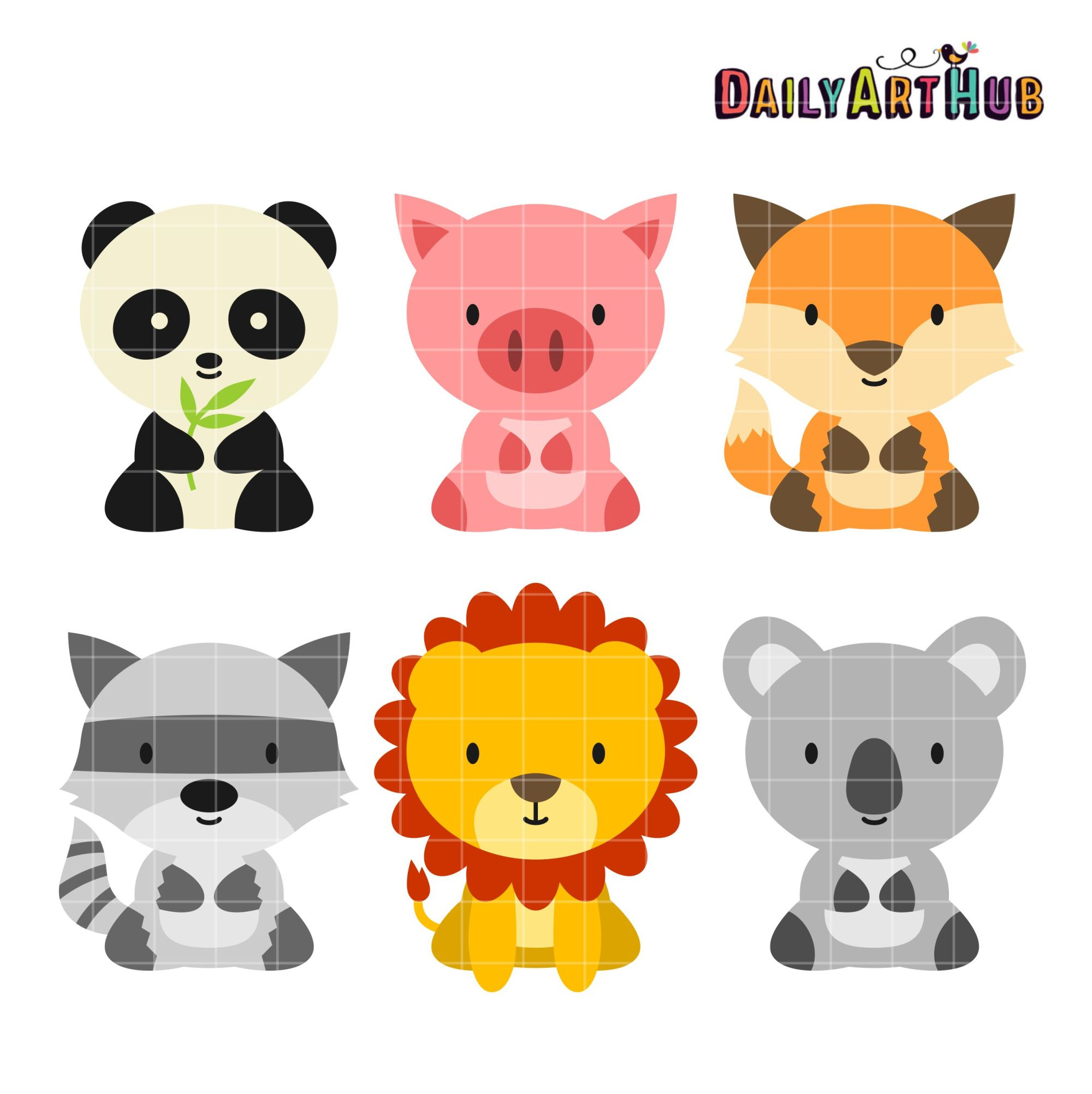 hight resolution of baby safari animals clipart baby