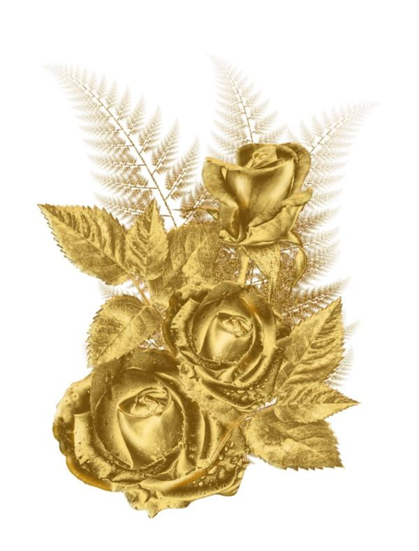 free gold roses cliparts