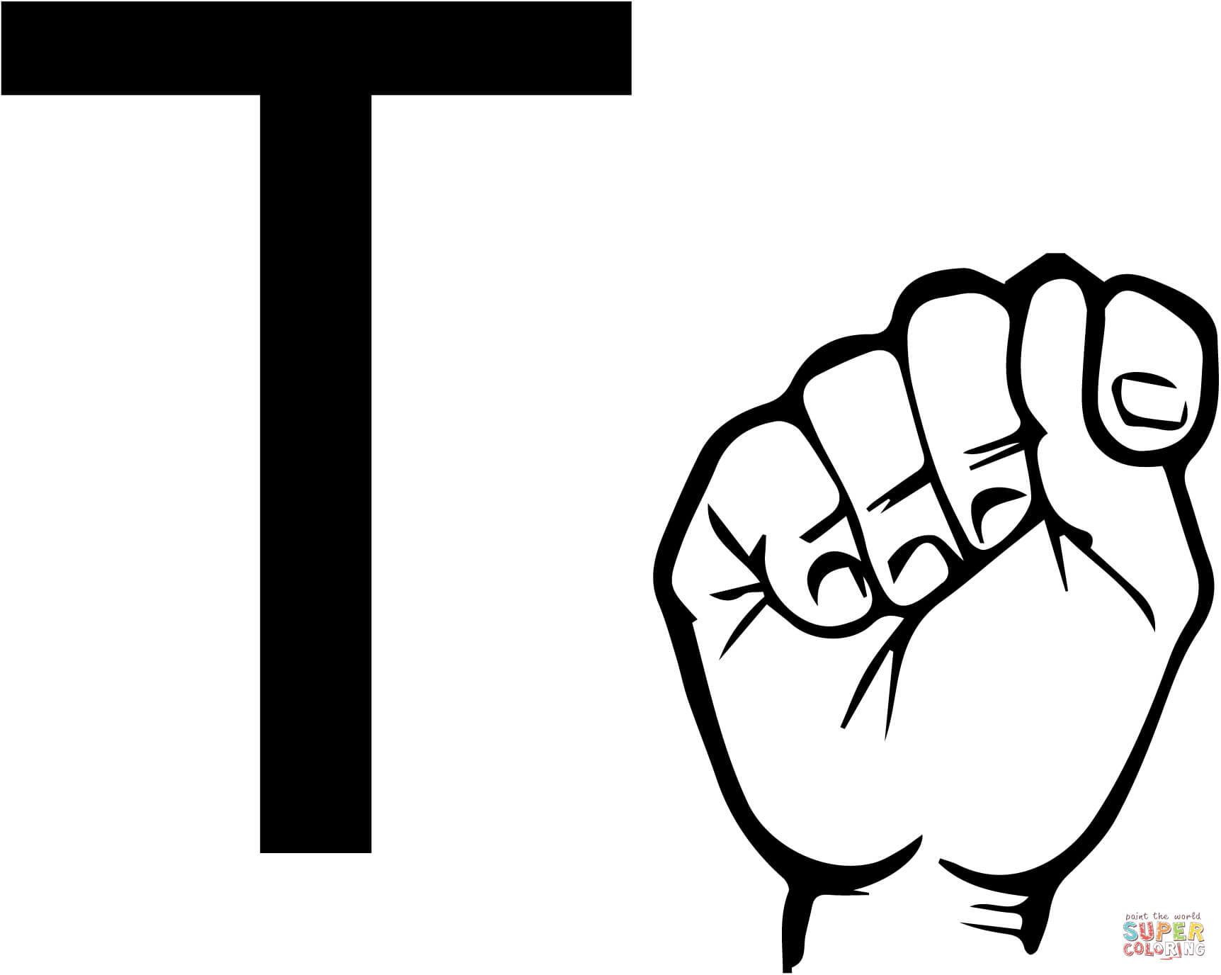 Sign Language Clipart Letter T