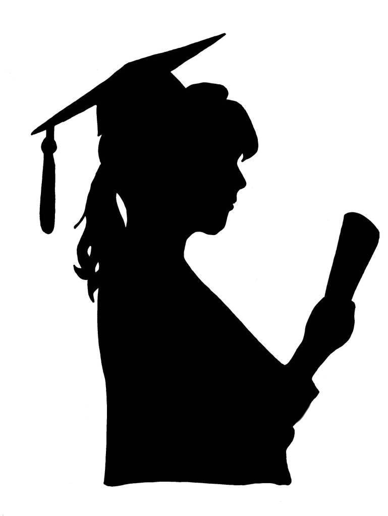 Graduation Silhouette Girl : graduation, silhouette, Graduation, Silhouette,, Download, Clipart, Library