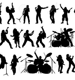 rock band silhouette clipart [ 1300 x 974 Pixel ]