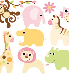 cute safari baby animal clipart baby [ 1160 x 772 Pixel ]