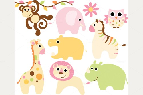 small resolution of cute safari baby animal clipart baby