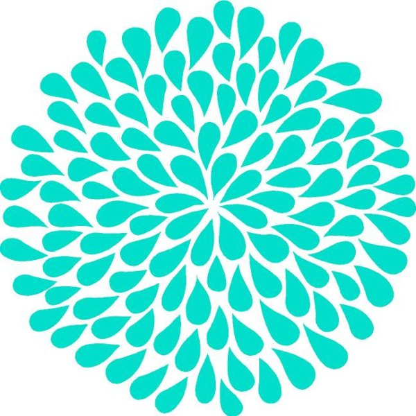 free turquoise flower cliparts