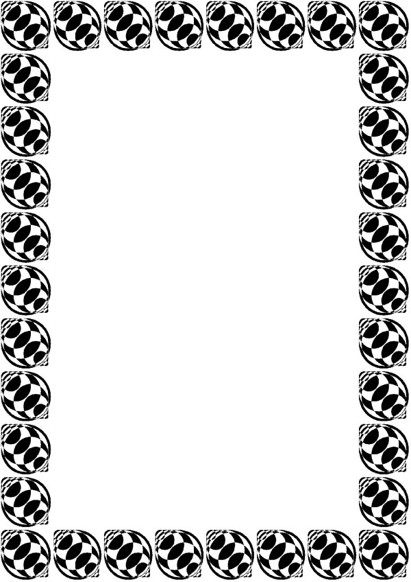 Free Sports Border Cliparts Clip Art