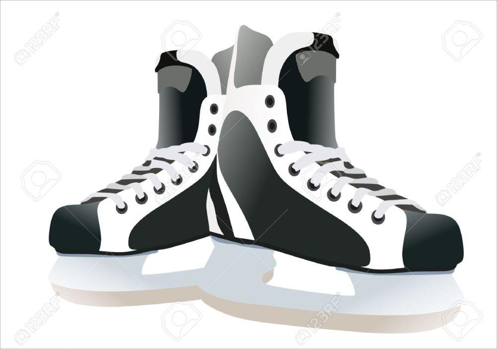 medium resolution of hockey skates clipart