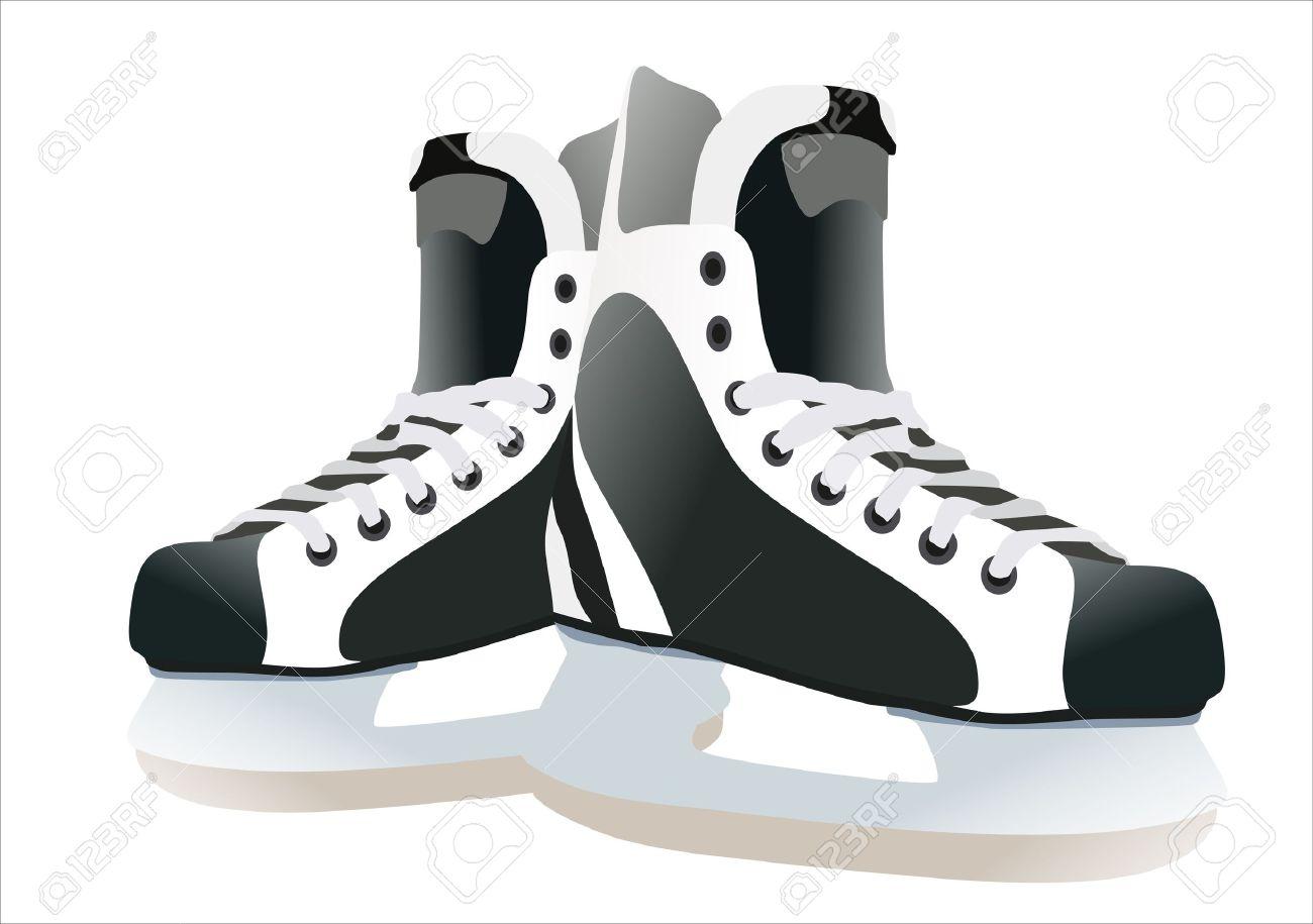 hight resolution of hockey skates clipart