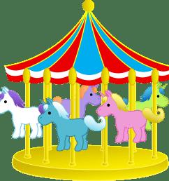 carousel horse clipart [ 3999 x 3987 Pixel ]