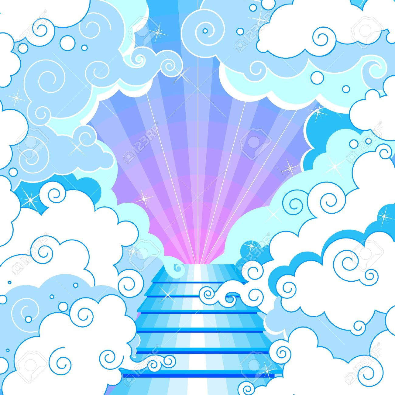 hight resolution of heaven clipart free