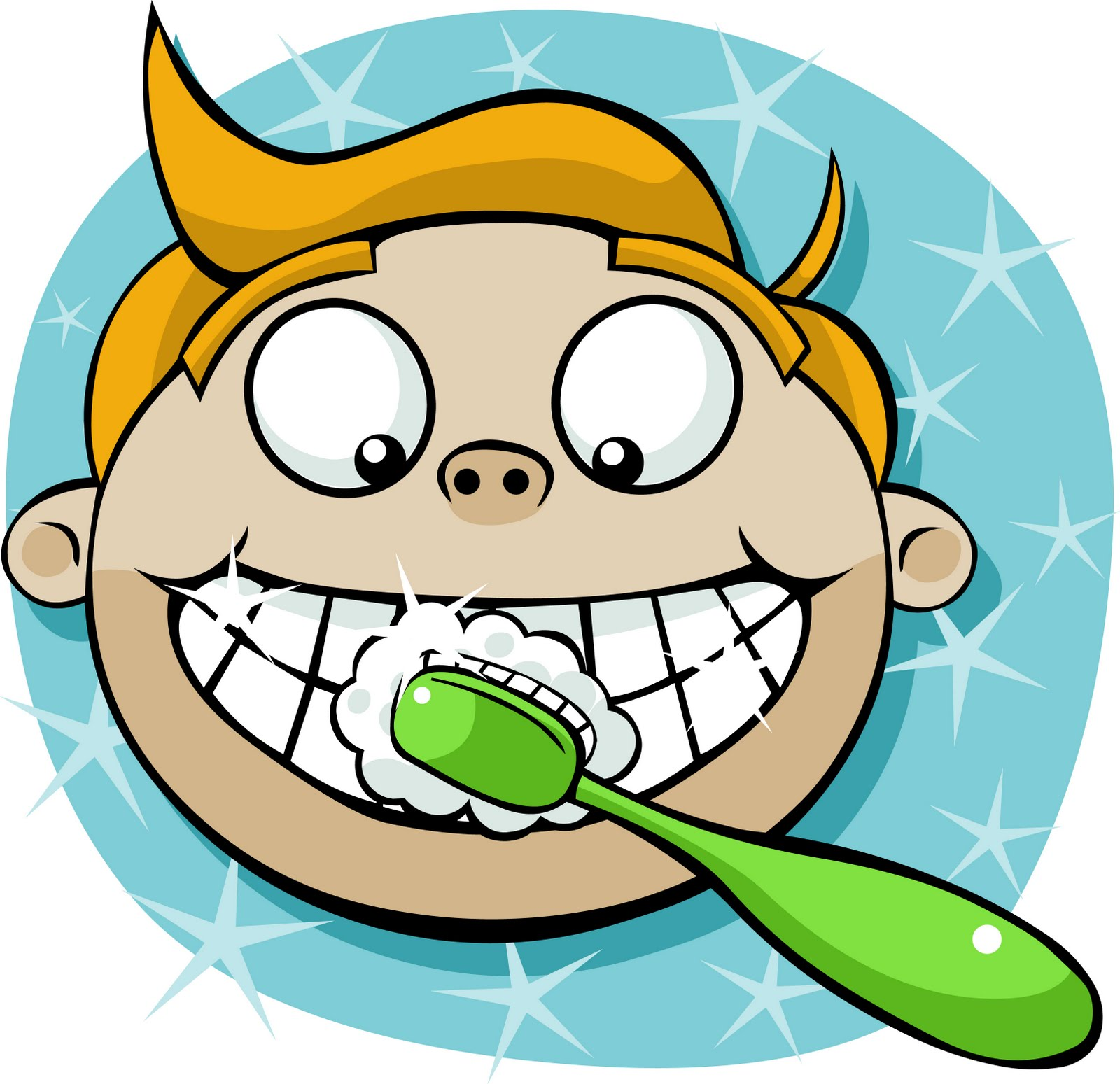 hight resolution of brushing teeth clip art brush