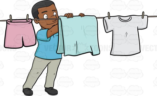 clipart hanging clothes