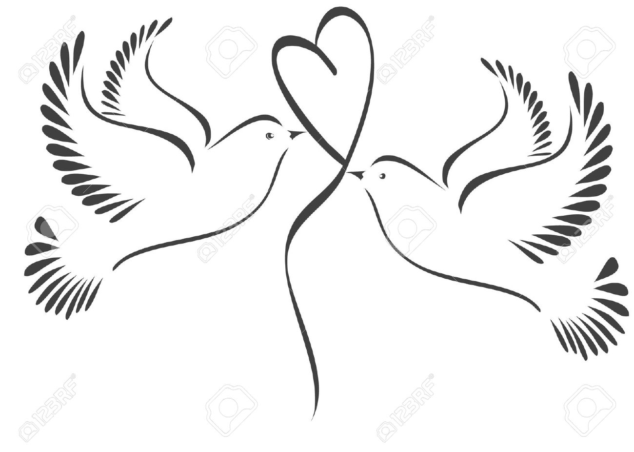 Two Doves Clipart