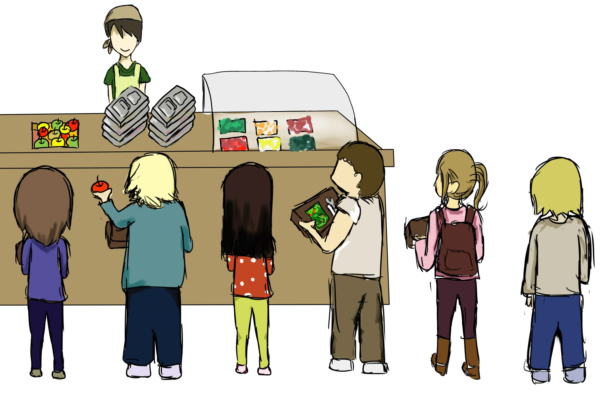 hight resolution of cafeteria clipart