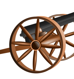civil war cannon clipart [ 3333 x 2319 Pixel ]