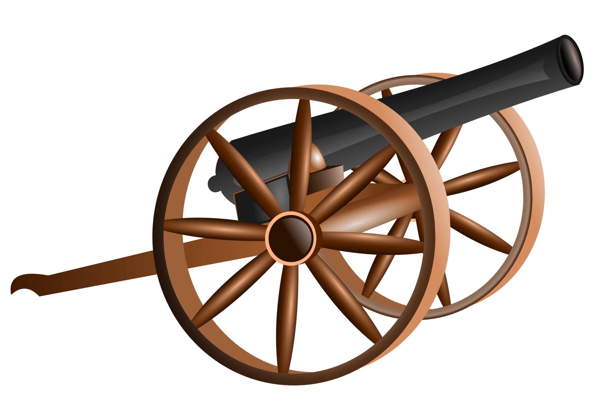 hight resolution of civil war cannon clipart