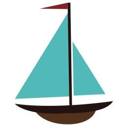 simple sailboat clipart sail [ 1050 x 1050 Pixel ]