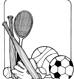 black and white sports clipart free [ 1296 x 1504 Pixel ]